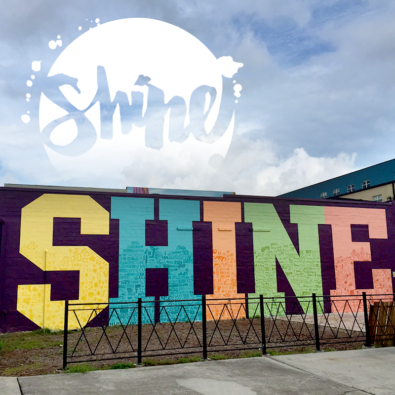 SHINE St. Pete Mural Fest Amsterdam Wall