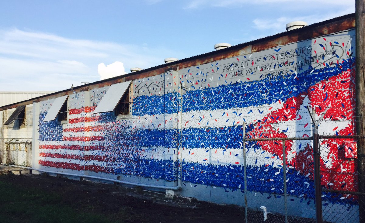 Cuban-artist-Michel-Mirabal-Flag-Mural-SHINE-Festival-2016